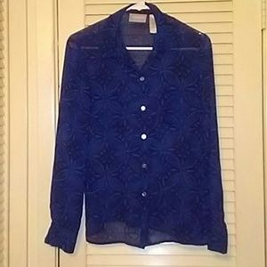 SIZE 6 LUZ CLAIBORNE COLLECTION BLOUSE